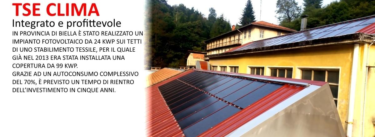 impianto fotovoltaico integrato coibentato